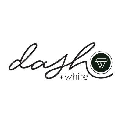 Graphic design of Dash & White logo.